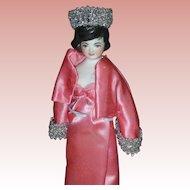 Vintage Sherman Smith Peg Wooden Doll Jacke Kennedy