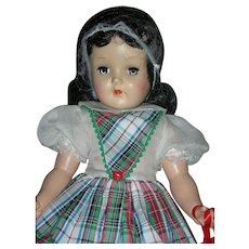 Vintage Beautiful 19 inch Ideal Toni Doll Brunette P-92 Hard Plastic 1950's
