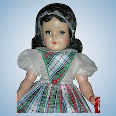 Vintage Beautiful 19 inch Ideal Toni Doll Brunette P-92 Hard Plastic 1950's
