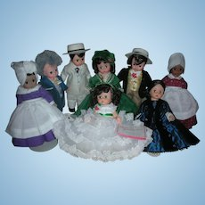 Set of 8 Madame Alexander Gone with the Wind Dolls 8 inch