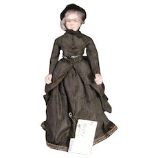 "Vintage 1970s Betty Curtis NIADA Doll Artist  ""Deacon Smith's Wife"" Paper Mache"