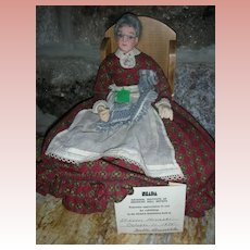 "Vintage NIADA Betty Curtis Doll Artist Paper Mache Doll ""Grandma"" 1975 Convention Doll"