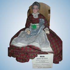 "Vintage NIADA Betty Curtis Doll Artist Paper Mache Doll ""Grandma"" 1975 Convention Doll"