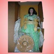 Vintage Franklin Mint Scarlett O'Hara 19 inch Gone With the Wind Doll Picnic Dress NRFB