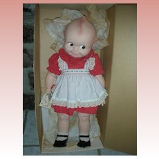 Vintage Rose O'Neill Kewpie Playpal Doll 24 inch Mint in box