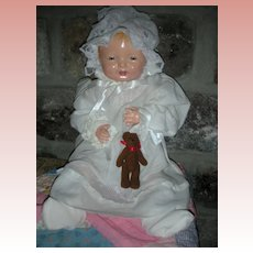 Vintage 1925 Effanbee Baby Bubbles Composition Doll 18 Inch