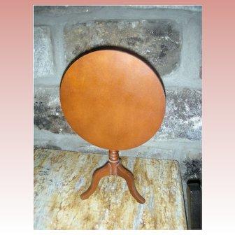 Vintage Wooden Doll Tilt Top Table