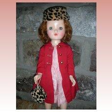 "Vintage Madame Alexander Winnie Walker Doll 18"" Hard Plastic All Original"