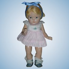 Vintage Vogue Composition Toodles Doll Pre Ginny 8 inch