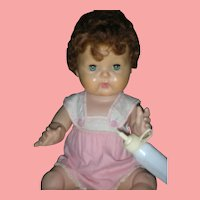 Vintage American Character 1950's Tiny Tears Doll Drink And Wet with Rock A Bye Eyes