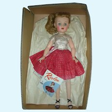 Rare Ideal Miss Revlon Doll With Side Pony Tail High Color in Box All Original Queen of Diamonds