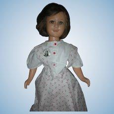 Vintage Ideal Deanna Durbin Composition Doll 17 inch