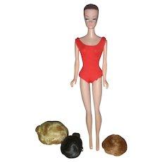 Vintage Mattel Fashion Queen Barbie Doll With Three Wigs