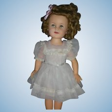 Vintage Ideal Doll Shirley Temple Doll with Flirty Eyes Original Dress 17 inch 1950's