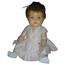 Vintage American Character 1950's Tiny Tears Doll Drink and Wet 15 inch Original Dress