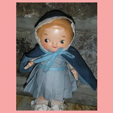 Vintage All Composition Campbell Soup Doll 8 inch Compo