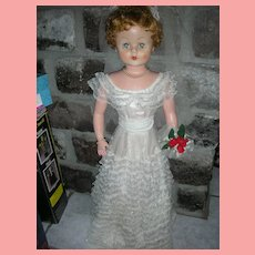 Vintage 1950's Deluxe Reading Doll Betty The Beautiful Bride All Original 29 inch Play Pal Size