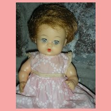 Rare Teenie Ideal Betsy Wetsy Doll 8 inches Drink and Wet 1950's
