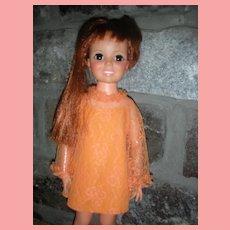 Vintage Ideal Grow Hair Crissy Doll 1969 All Original