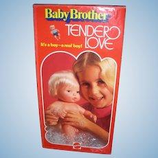 Vintage Mattel Baby Brother Tender Love Doll in Box 1975