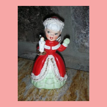 Vintage Napco Christmas Angel Bell 1950's