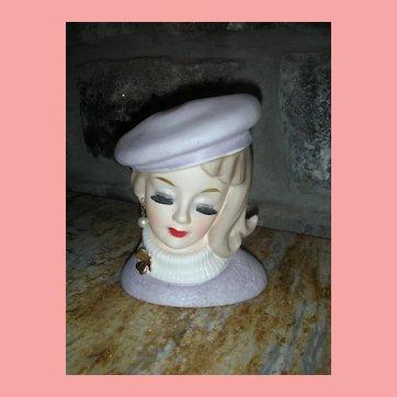 Rare Inarco Lady Head Vase E-1063 Head Vase Planter