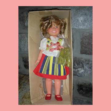 Vintage Ideal Shirley Temple Doll 15 inch in Original Box with Tagged Dress