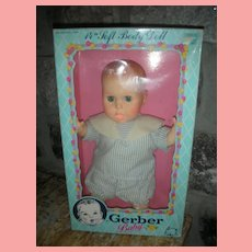 Vintage Gerber Baby Doll in Box 14 inch