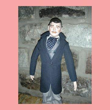 Vintage Rhett Butler Clark Gable Doll Gone with the Wind 19 inch Doll