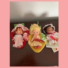 Rare Vintage Strawberry Shortcake Sweet Sleeper Dolls 1980's