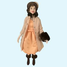Jackie Kennedy Vinyl Doll All Original Franklin Mint