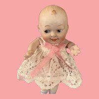 Nippon All Bisque Character Doll with Side glancing Eyes 4.5 inch
