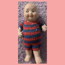 All Bisque 3 inch Googley Character Doll with Jointed Arms
