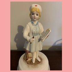 Vintage Schmidt Nurse Music Box RN
