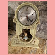 Vintage Mastercrafters Swinging Girl Motion Clock 1950's