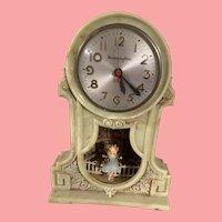 Vintage Mastercrafters Swinging Girl Motion Clock 1950's