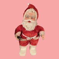 Vintage Rushton Christmas Coca-Cola Santa Claus 1950's Rubber Face Plush Doll