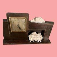 Vintage Mid Century United Fireplace Clock