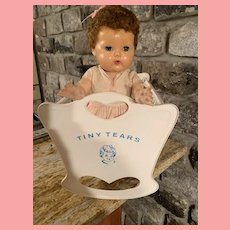 HTF Vintage American Character Tiny Tears Doll Cradle 19