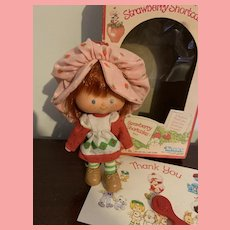 Vintage HTF Strawberry Shortcake Doll First Issue Flat Hands 1980's