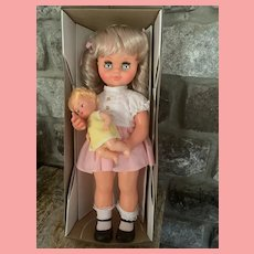 Vintage Musical Rock A Bye Baby Musical Doll NIB