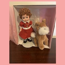 Madame Alexander 8 inch Little Orphan Annie Doll with Dog MIB