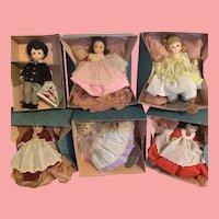 Vintage set of Madame Alexander 8 inch Little Women Dolls in box