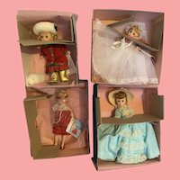 Lot of vintage Madame Alexander Dolls in box