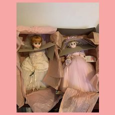 Vintage Madame Alexander Elise Bride and Bridesmaid Dolls MIB