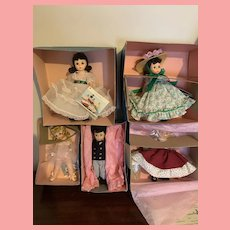 Lot of Vintage Madame Alexander 8 Inch Dolls in Box