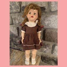 Vintage Ideal Saucy Walker Doll Flirty Eyes 21 inch 1950's Hard Plastic