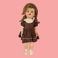 Vintage Ideal Saucy Walker Doll Flirty Eyes 21 inch 1950's Hard Plastic