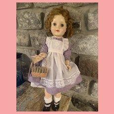 Vintage American Character Sweet Sue Doll 24 inch 1950's Hard Plastic Walker