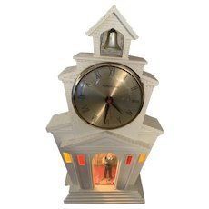 Vintage Mastercrafters 1950's Church Clock Motion Lighted